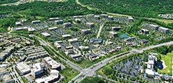 Aerial view of Ballantyne Corporate Park