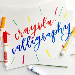 SkillPop: Crayola Calligraphy Virtual Class Benefiting Color the Park